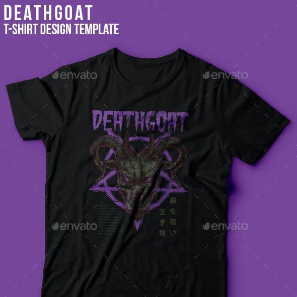 Death Goat T-Shirt Design