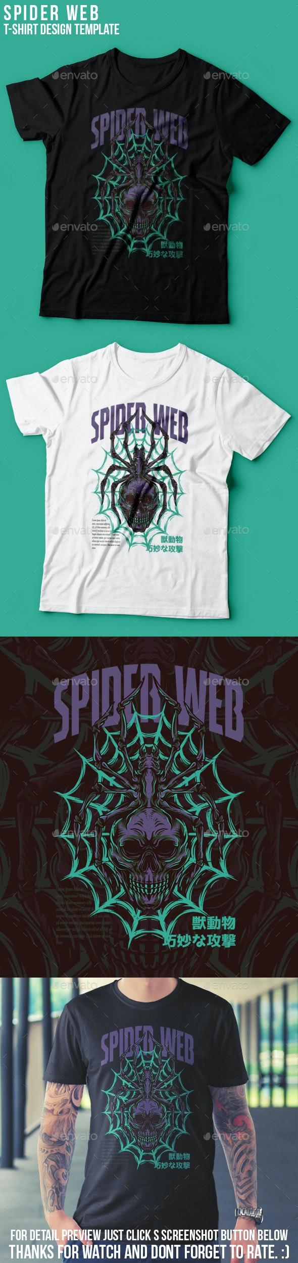 Spider Web T-Shirt Design - Grunge Designs