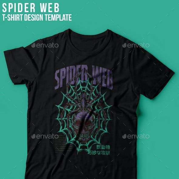 Spider Web T-Shirt Design