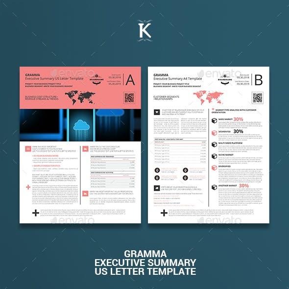 Gramma Executive Summary US Letter Template