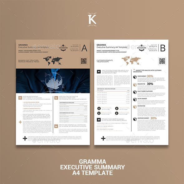 Gramma Executive Summary A4 Template