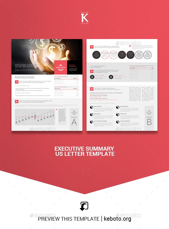 Executive Summary US Letter Template - Miscellaneous Print Templates