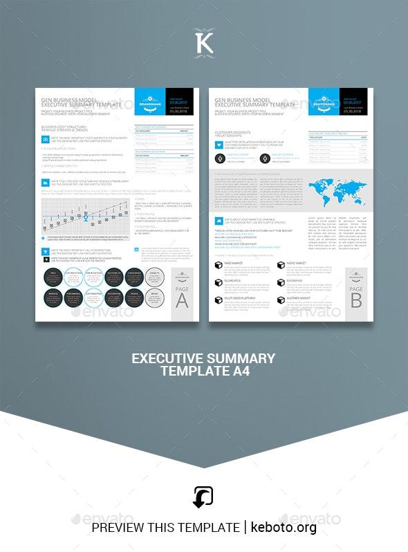 Executive Summary Template A4 - Miscellaneous Print Templates