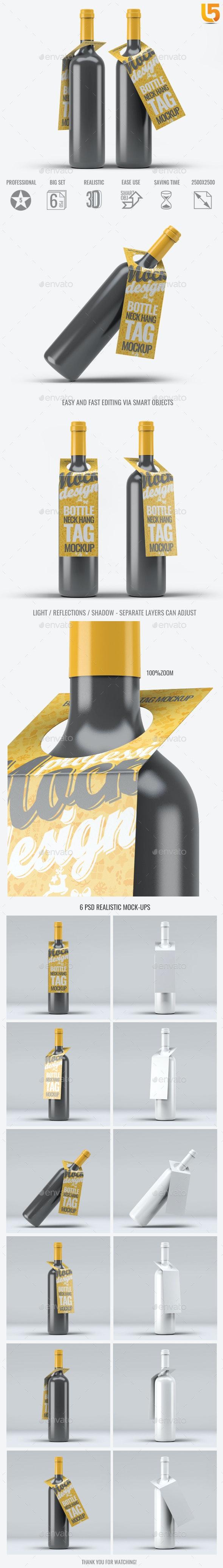 Bottleneck Hanger Tag Mock-Up - Food and Drink Packaging