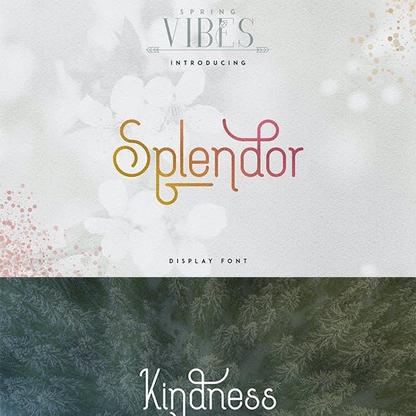[Spring Vibes] Splendor Font