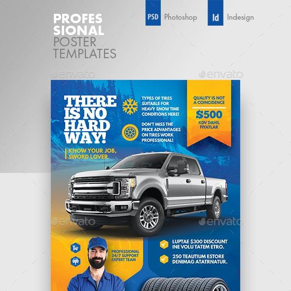 Auto Tires Poster Templates