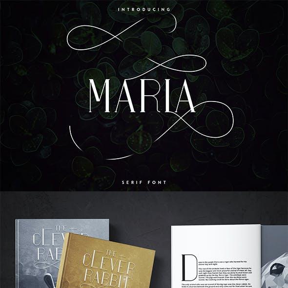 Maria Serif Font