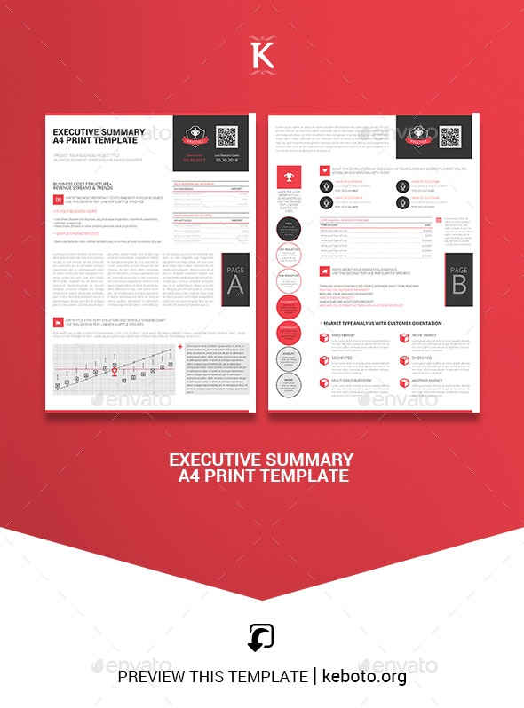 Executive Summary A4 Print Template - Miscellaneous Print Templates