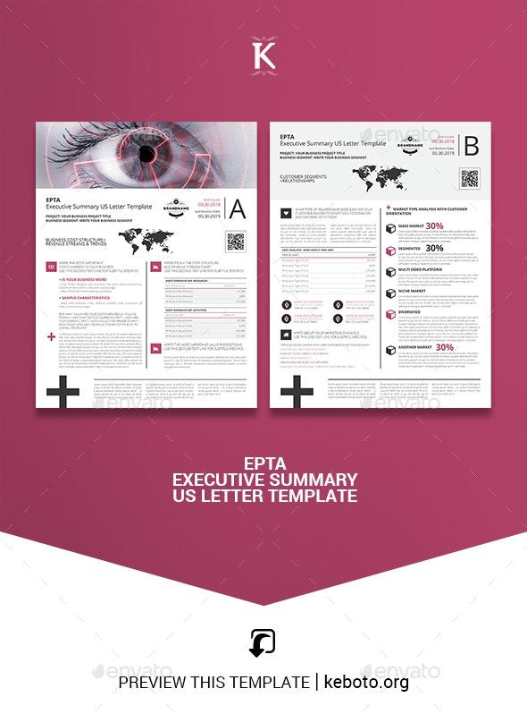 Epta Executive Summary US Letter Template - Miscellaneous Print Templates