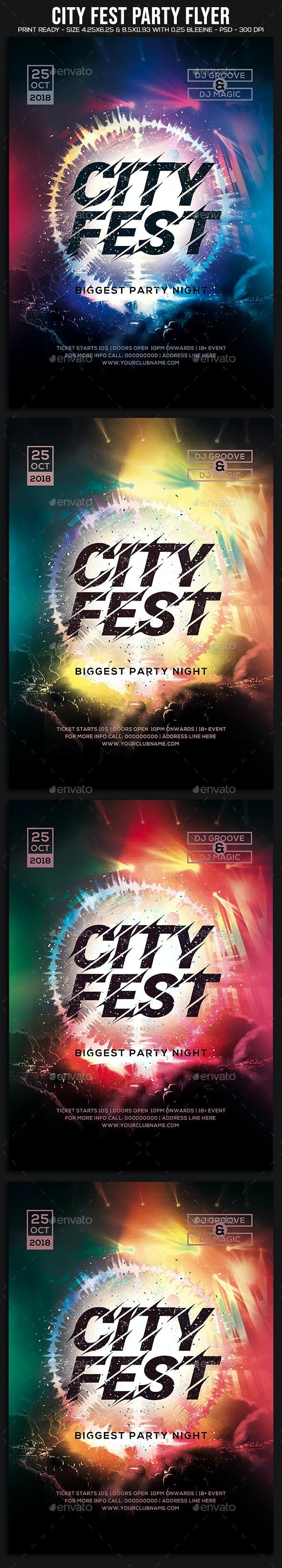 City Fest Party Flyer - Clubs & Parties Events