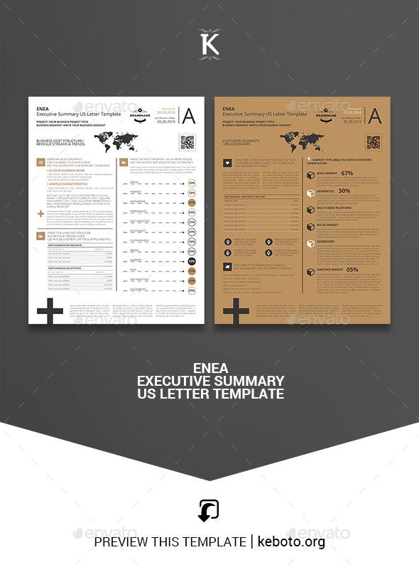 Enea Executive Summary US Letter Template - Miscellaneous Print Templates