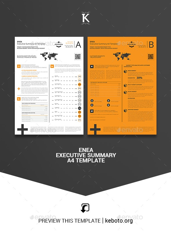 Enea Executive Summary A4 Template - Miscellaneous Print Templates