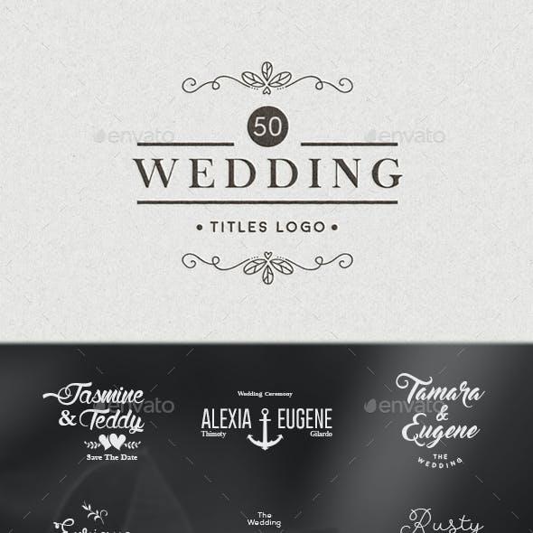 50 Wedding Titles Logo Vol. 2