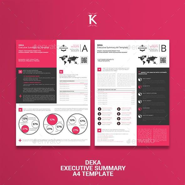 Deka Executive Summary A4 Template
