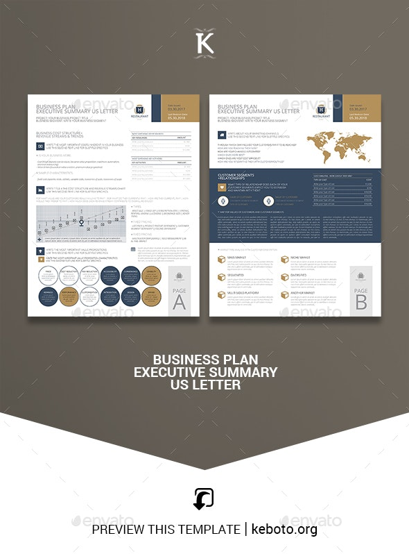Business Plan Executive Summary US Letter - Miscellaneous Print Templates
