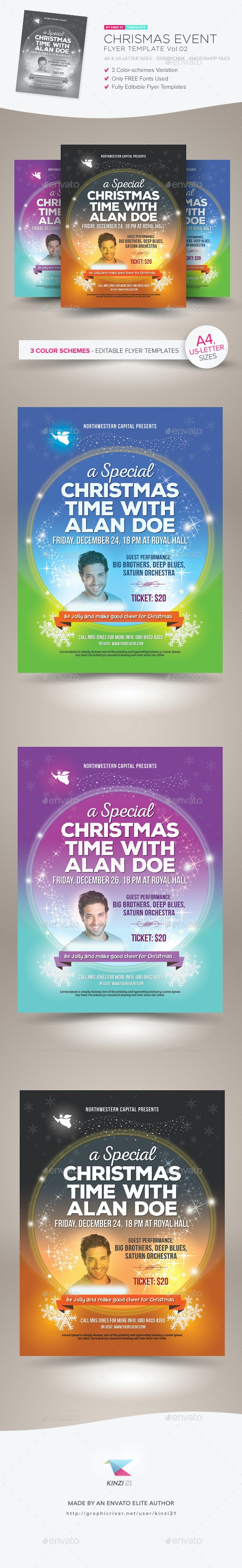 Christmas Event Flyer Template vol.02 - Holidays Events