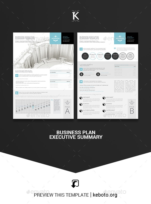 Business Executive Summary Template - Miscellaneous Print Templates