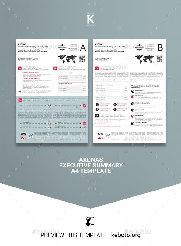 Axonas Executive Summary A4 Template - Miscellaneous Print Templates