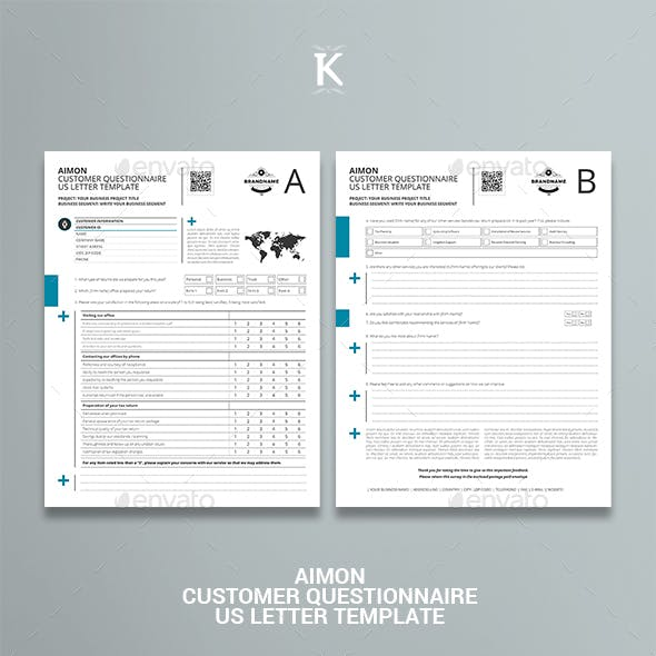 Aimon Customer Questionnaire US Letter Template