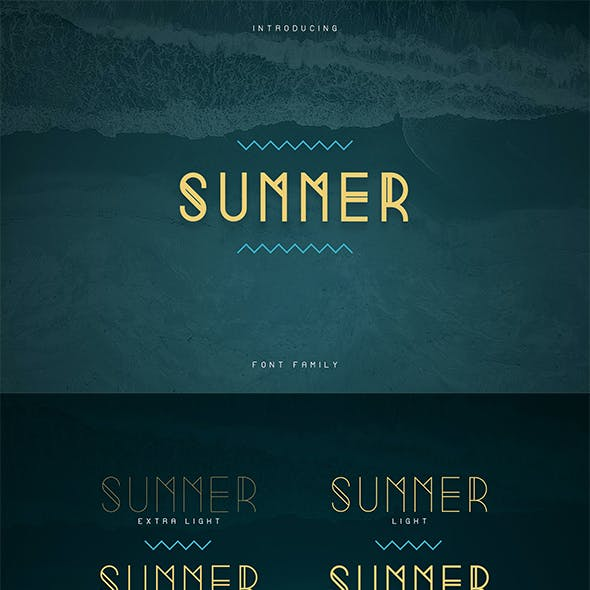 Summer Display Font family