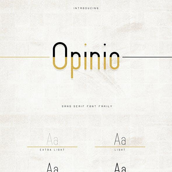 Opinio - Sans serif family