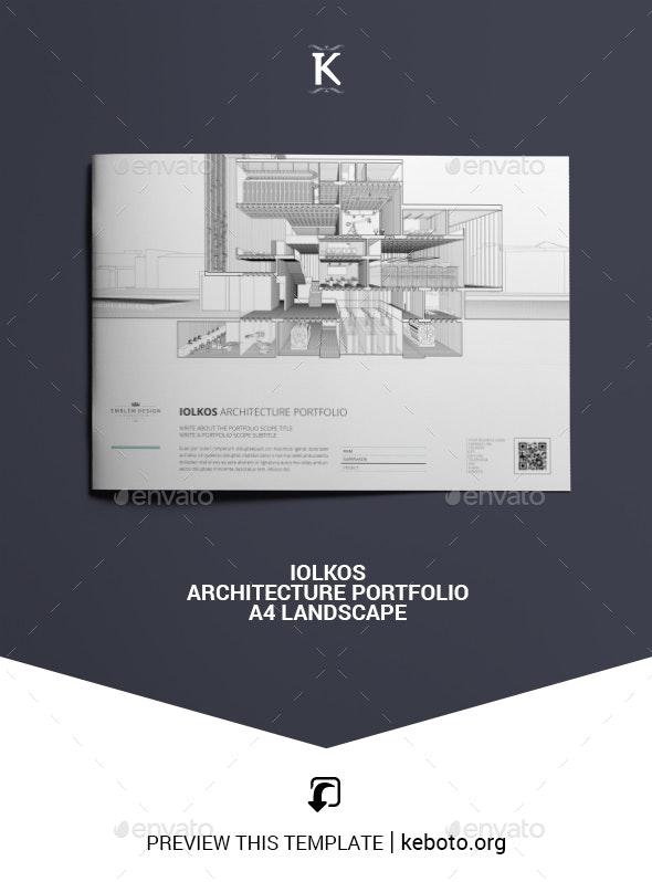 Iolkos Architecture Portfolio A4 Landscape - Portfolio Brochures