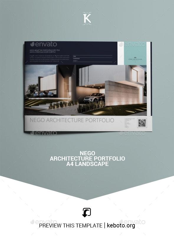 Nego Architecture Portfolio A4 Landscape - Portfolio Brochures