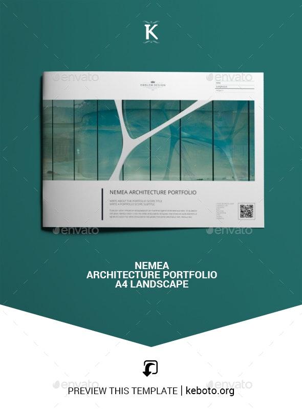 Nemea Architecture Portfolio A4 Landscape - Portfolio Brochures