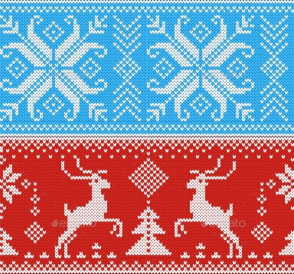 Knitting Pattern Vector Knit Wool Texture - Backgrounds Decorative