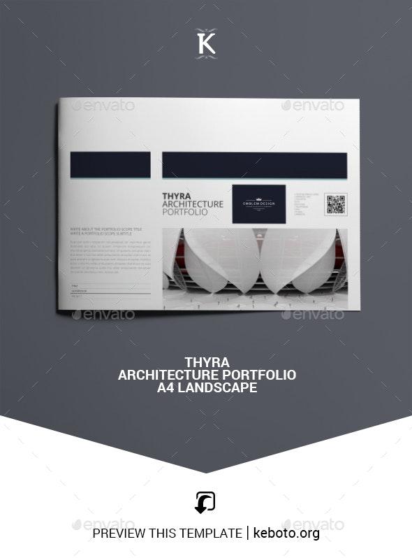 Thyra Architecture Portfolio A4 Landscape - Portfolio Brochures