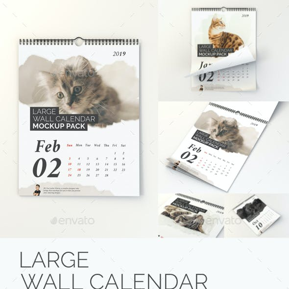 Large Wall Calendar Mockup Pack