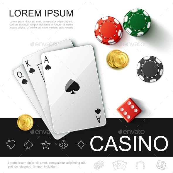 Realistic Casino Top View Concept