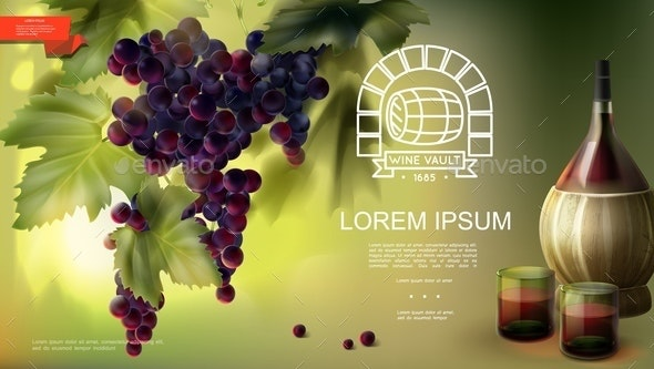 Realistic Winemaking Industry Background - Flowers & Plants Nature