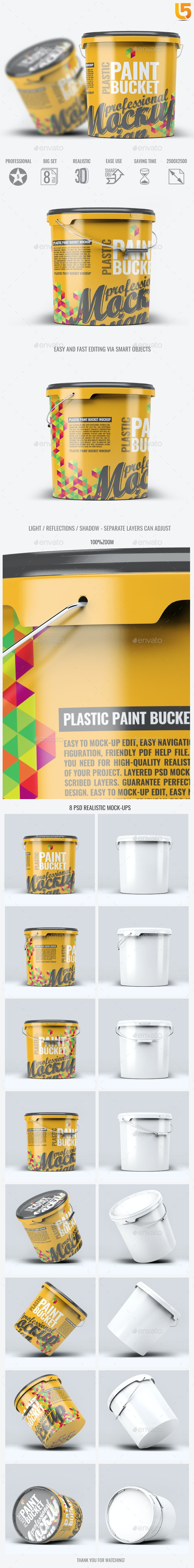 Plastic Paint Bucket Mock-Up - Miscellaneous Packaging