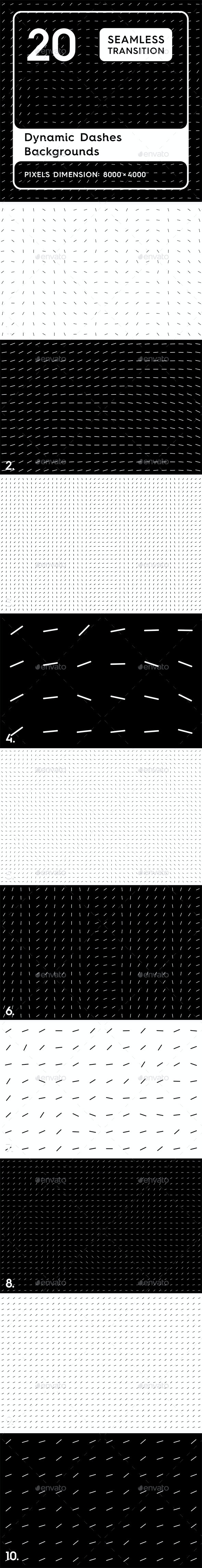 10 Dynamic Dashes Backgrounds - Patterns Backgrounds