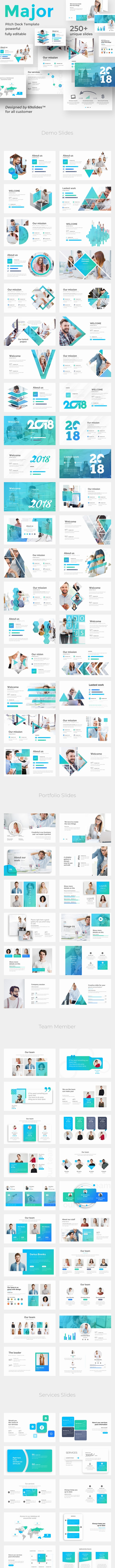 Major Business Pitch Deck Powerpoint Template - Business PowerPoint Templates