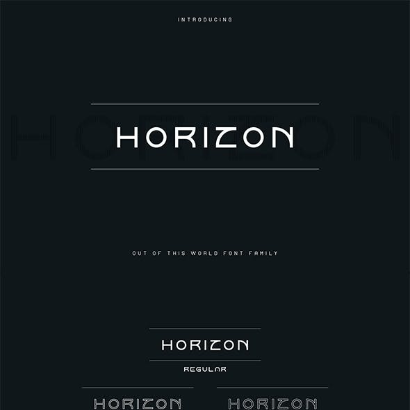 Horizon font family