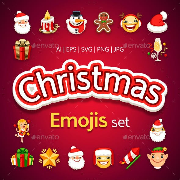 Christmas Emojis Set