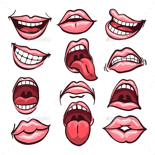 Cartoon Mouth Set - Miscellaneous Characters