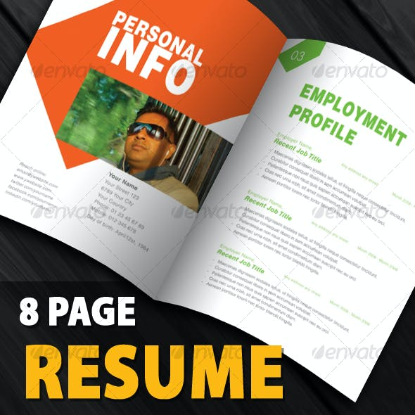 Clean and Creative Resume Book