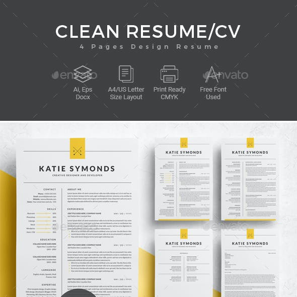 Professional Resume Template | 4 Pages