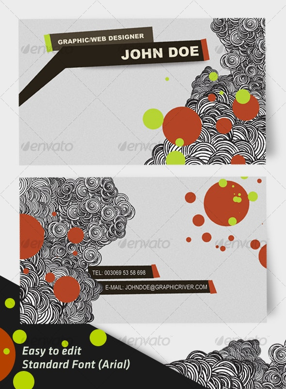 Doodly Business Card - Creative Business Cards