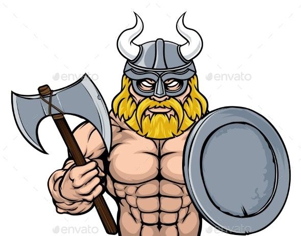 Viking Warrior Mascot - People Characters