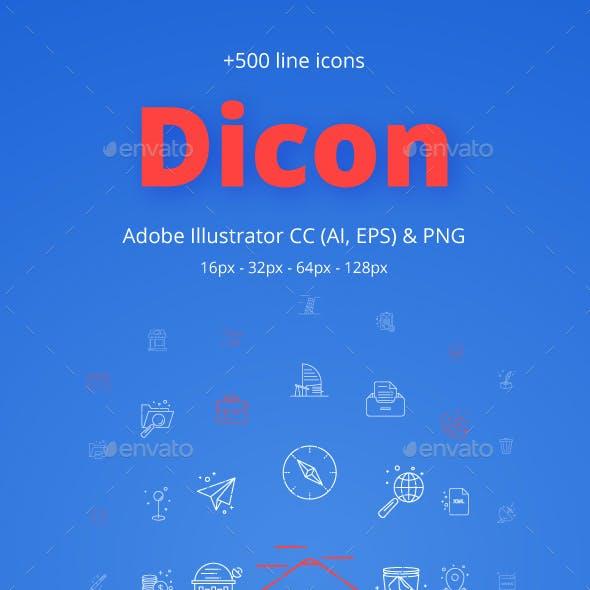 Dicon Line Icons