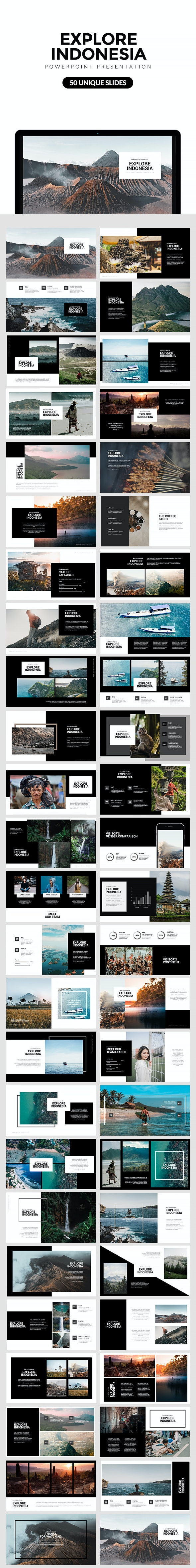 Explore Indonesia Powerpoint Template - Nature PowerPoint Templates