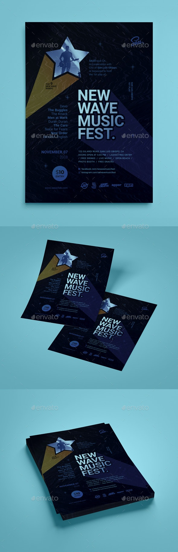 New Wave Music Flyer (Vol.1) - Events Flyers