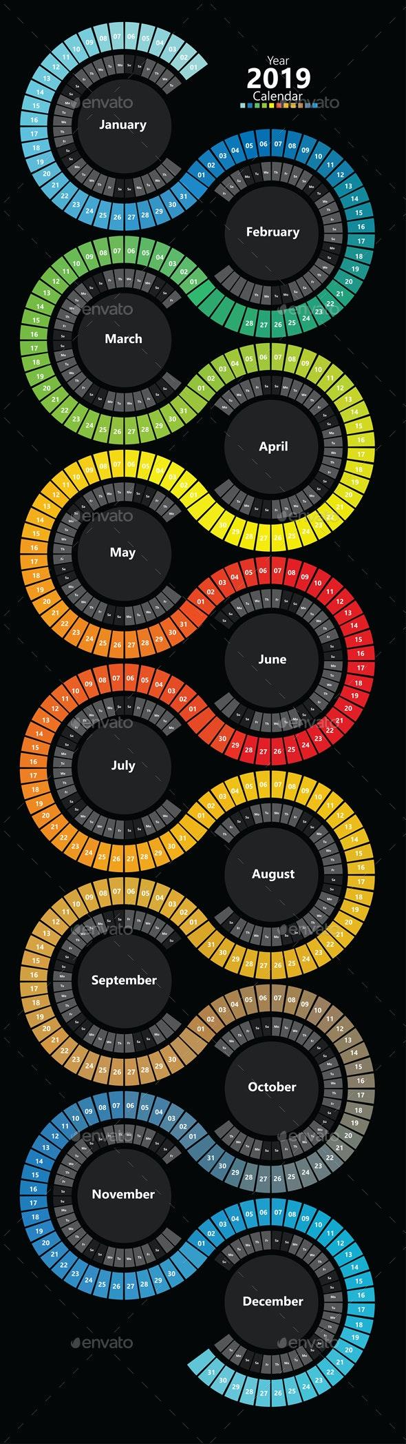 Spectrum Calendar - Calendars Stationery