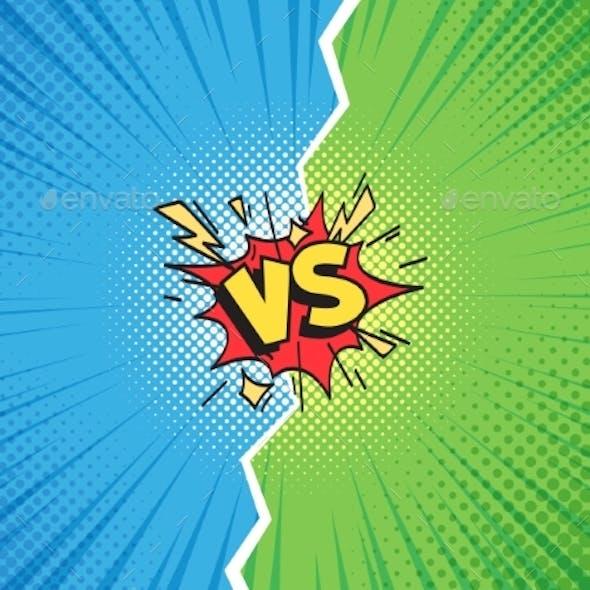 Comic Frame Versus Duel Battle or Team