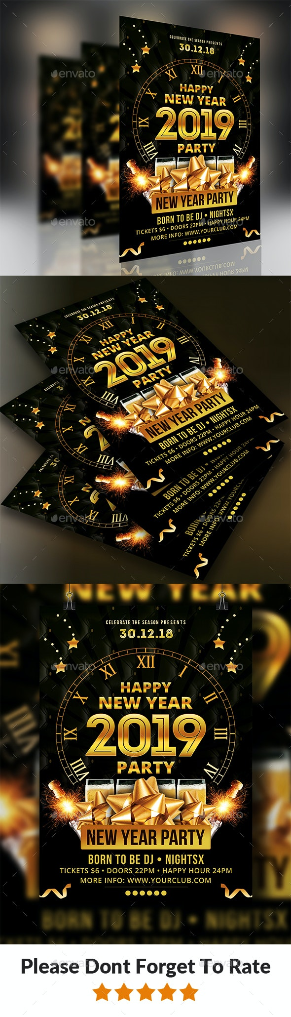 New Year Party Flyer Templates - Events Flyers