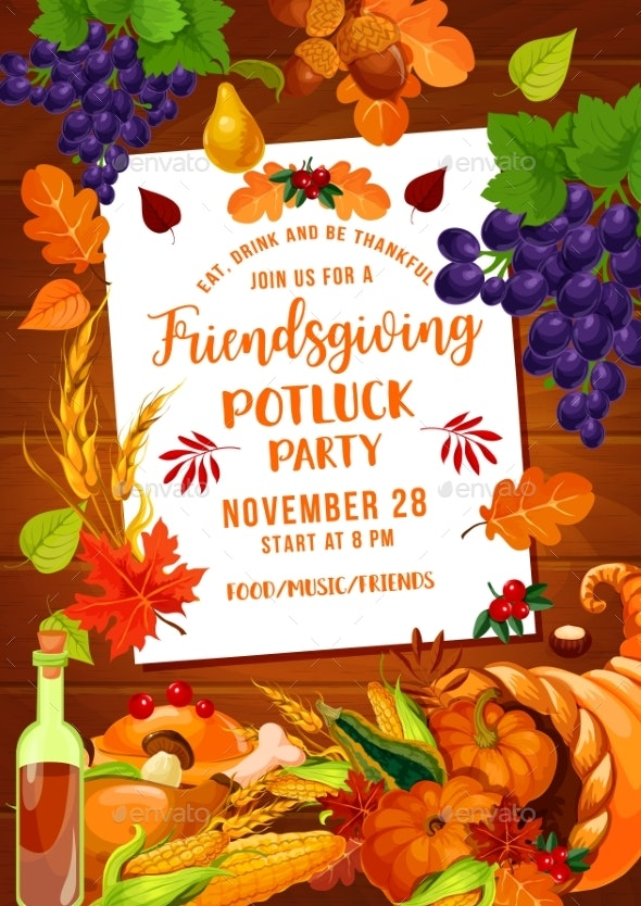 Thanksgiving Friendsgiving Potluck with Cornucopia - Miscellaneous Seasons/Holidays